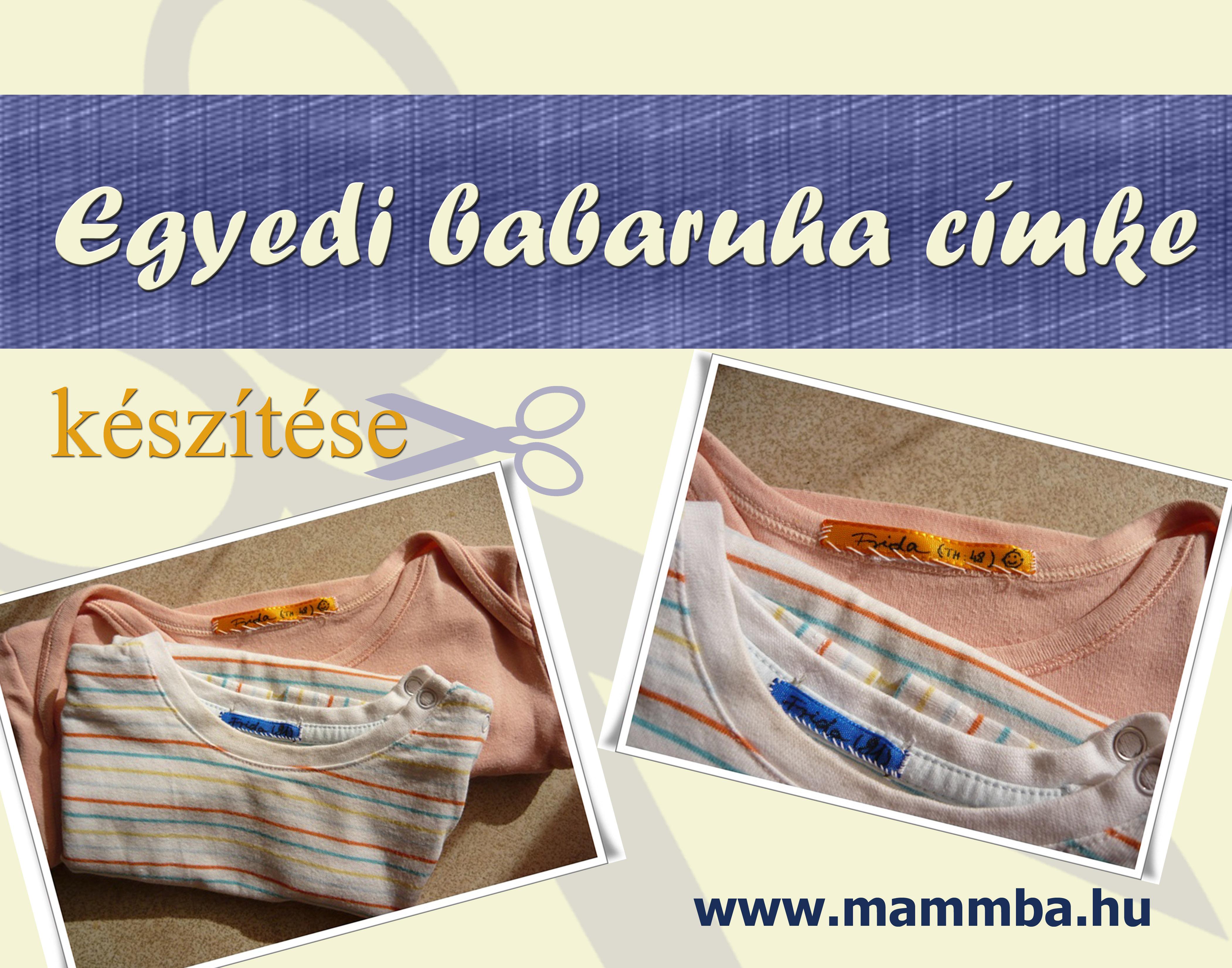 Egyedi babaruha címke  c5b0972e62