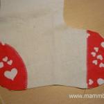 Mikulás zokni készítése, letölthető szabásmintával