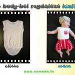 Kinőtt body-ból rugdalózó kisfiúknak