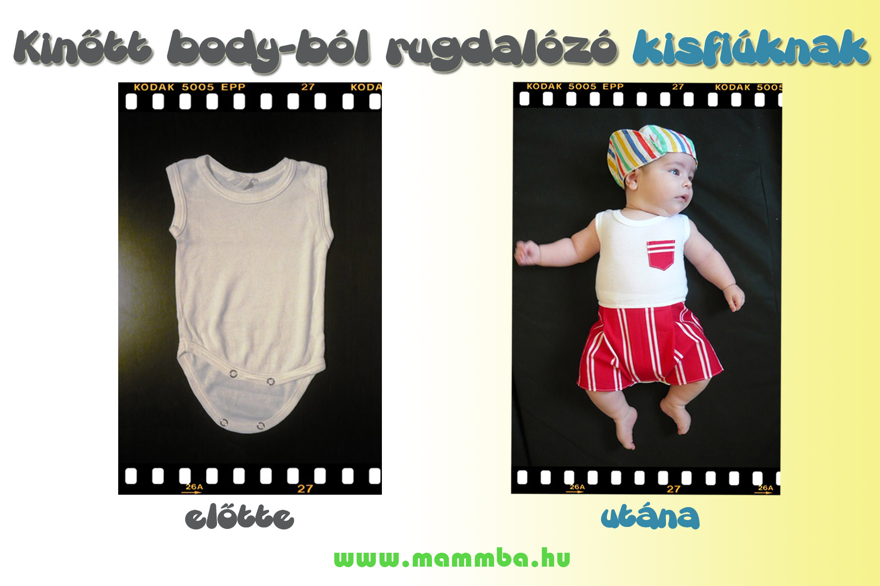 d26e8dfe59 Kinőtt body-ból rugdalózó készítése kisfiúknak | MammBa - A baba és ...