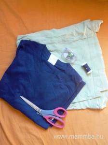 Strandruha és fejkendő pólóból