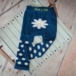 Margarétás leggings és zokni kislányoknak