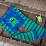 Szörnyes leggings és zokni kisfiúknak